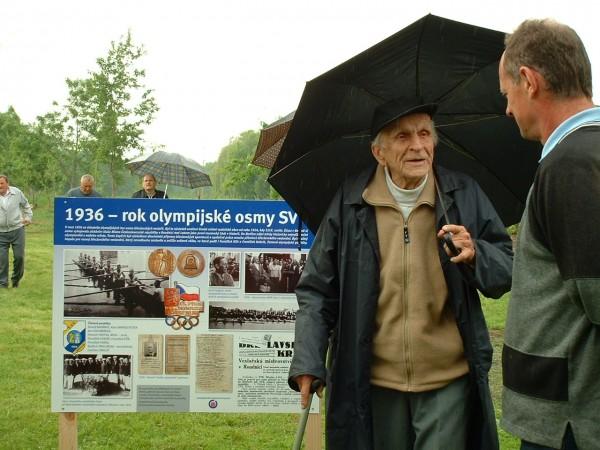 Antonín Hrstka s předsedou Pafkovičem