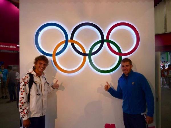Miroslav Jech a Lukáš Helešic v olympijské vesnici