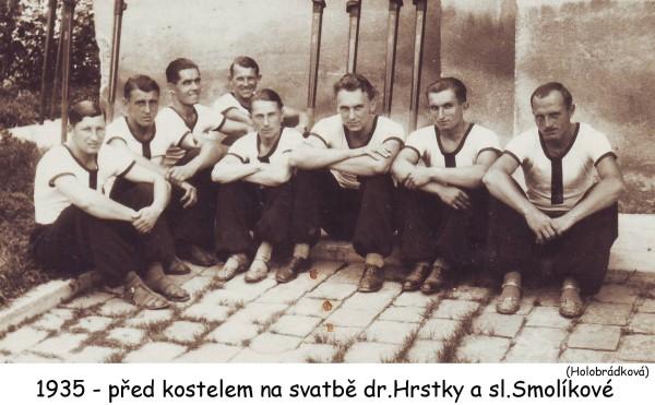 Svatba Štěpána Hrstky v roce 1935