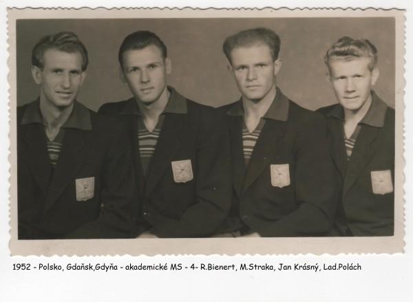 1952 čtyřka repre Polsko Akademické MS